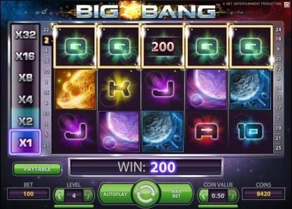 Split Aces featuring the Video Slots Big Bang with a maximum payout of $16,000