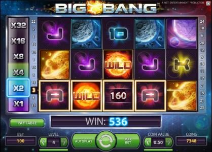 Touch Lucky featuring the Video Slots Big Bang with a maximum payout of $16,000