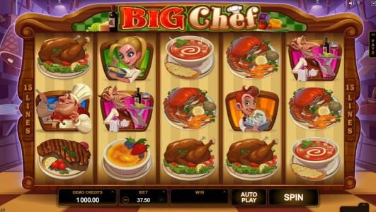 Play slots at Vegas Seven: Vegas Seven featuring the Video Slots Big Chef with a maximum payout of $375,000