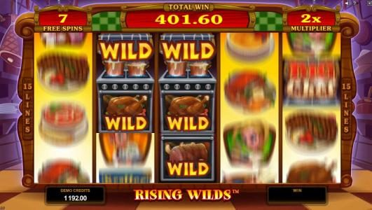 Golden Reef featuring the Video Slots Big Chef with a maximum payout of $375,000
