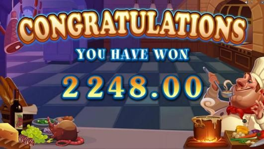 The free spins feature pays out aa total of $2248 for a mega win!