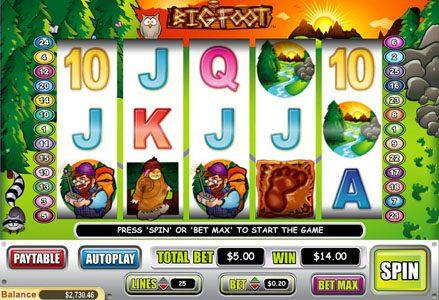 Play slots at Liberty Slots: Liberty Slots featuring the Video Slots Big Foot with a maximum payout of $50,000