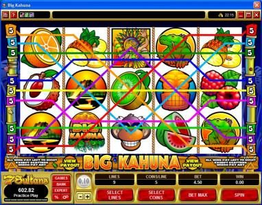 Casumo featuring the Video Slots Big Kahuna with a maximum payout of $40,000