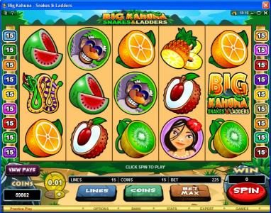 Dragonara featuring the Video Slots Big Kahuna Snakes & Ladders with a maximum payout of $50,000