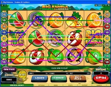 Quatro featuring the Video Slots Big Kahuna Snakes & Ladders with a maximum payout of $50,000