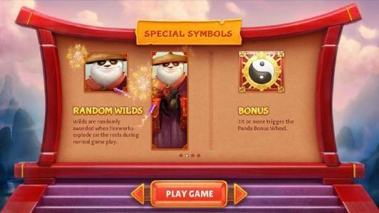 special symbols - random wilds and bonus symbols