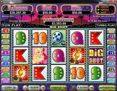 Bovegas featuring the Video Slots Big Shot with a maximum payout of $250,000