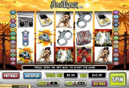 Lincoln featuring the Video Slots Big Time with a maximum payout of $40,000
