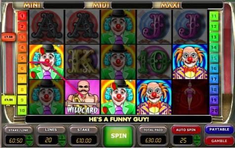 Gorilla featuring the Video Slots Big Top Extravaganza with a maximum payout of $100,000