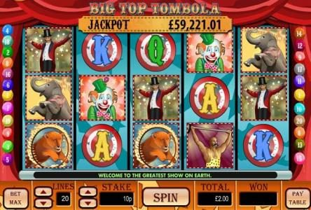 Play slots at Lota Play: Lota Play featuring the Video Slots Big Top Tombola with a maximum payout of $10,000