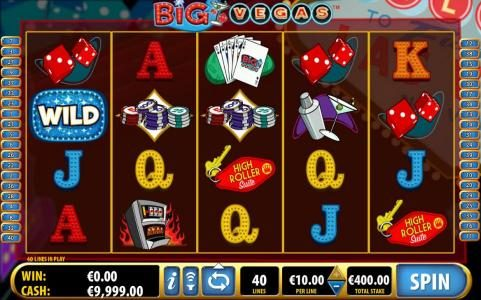 Play slots at Mega Casino: Mega Casino featuring the Video Slots Big Vegas with a maximum payout of $3,000