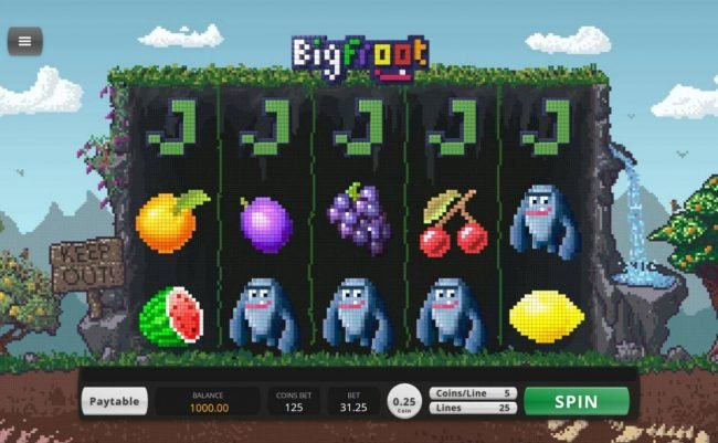 Bella Vegas featuring the Video Slots BigFroot with a maximum payout of $57,240