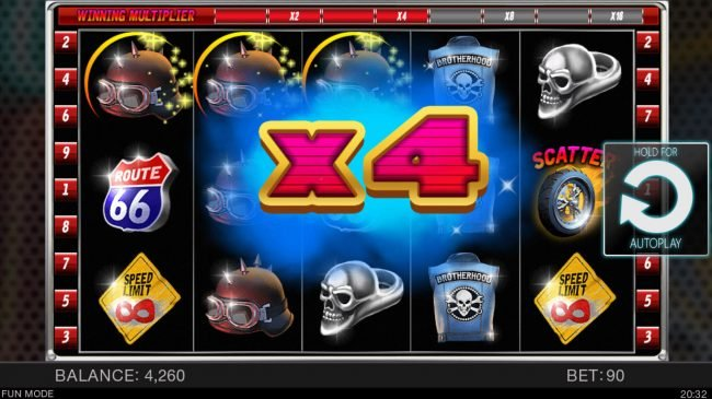 NordiCasino featuring the Video Slots Bikers Gang with a maximum payout of $2,500