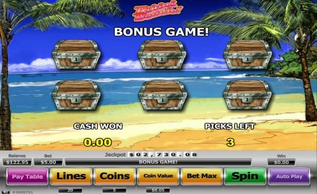 Mister Winner featuring the Video Slots Bikini Beach with a maximum payout of $130,000