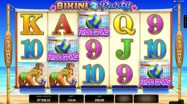 King Billy featuring the Video Slots Bikini Party with a maximum payout of $120,000