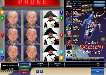 Wild Tornado featuring the Video Slots Bill & Ted's Excellent Adventure with a maximum payout of $4,000
