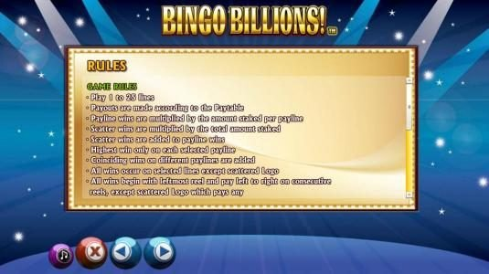 Casino Club featuring the Video Slots Bingo Billions with a maximum payout of $10,000