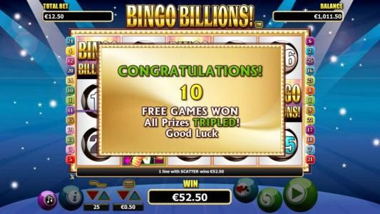 EypoBet featuring the Video Slots Bingo Billions with a maximum payout of $10,000