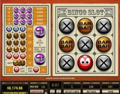 Rich Casino featuring the Video Slots Bingo Slot 5 Lines with a maximum payout of $30,000
