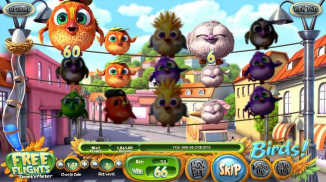 Carbon Casino featuring the Video Slots Birds! with a maximum payout of $500