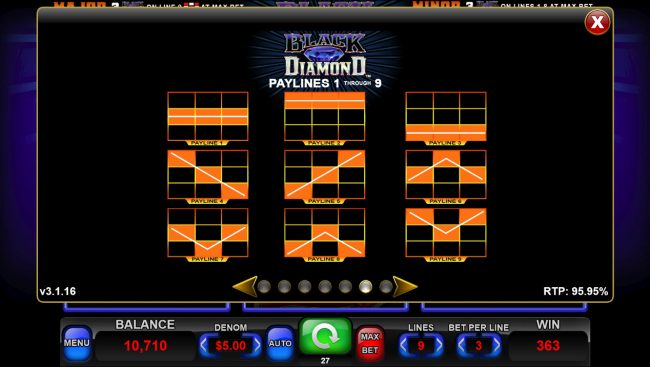 Black Diamond :: Paylines 1-9