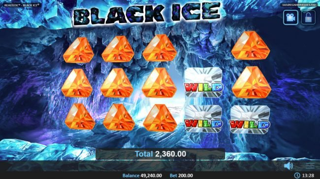 Queen Vegas featuring the Video Slots Black Ice with a maximum payout of $50,000