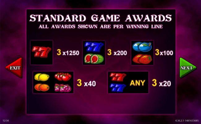 Black Magic Fruits :: Standard Game Awards