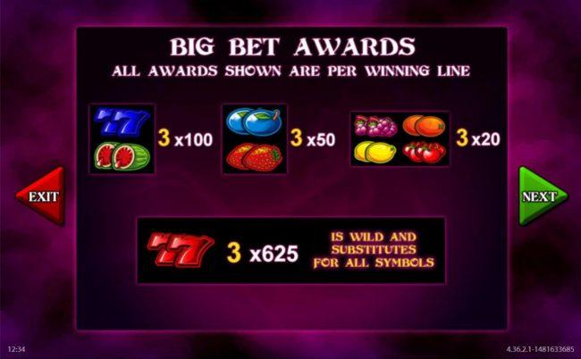 Black Magic Fruits :: Big Bet Game Awards