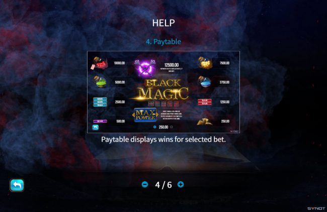 Melbet featuring the Video Slots Black Magic with a maximum payout of $500,000