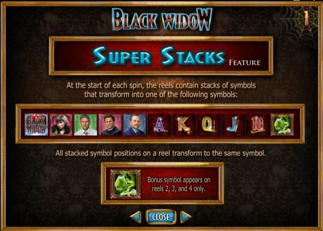 Thrills featuring the Video Slots Black Widow with a maximum payout of $20,000