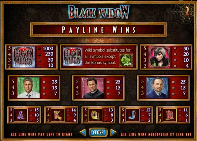 Jetbull featuring the Video Slots Black Widow with a maximum payout of $20,000