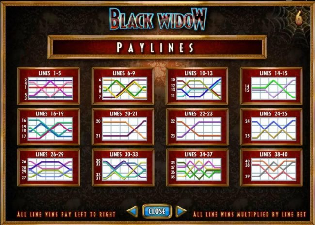 Play slots at Reel Vegas: Reel Vegas featuring the Video Slots Black Widow with a maximum payout of $20,000