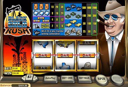 Play slots at Liberty Slots: Liberty Slots featuring the Video Slots Black Gold Rush with a maximum payout of $20,000