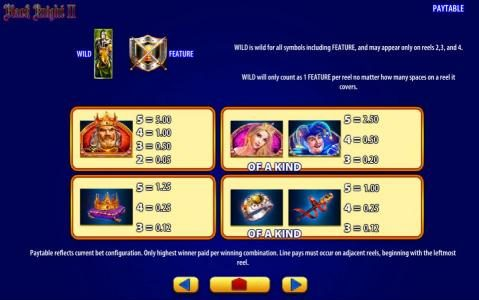 Play slots at Moon Games: Moon Games featuring the Video Slots Black Knight II with a maximum payout of $250,000