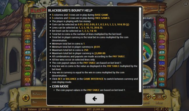 Lapalingo featuring the Video Slots Blackbeard's Bounty with a maximum payout of $2,000,000
