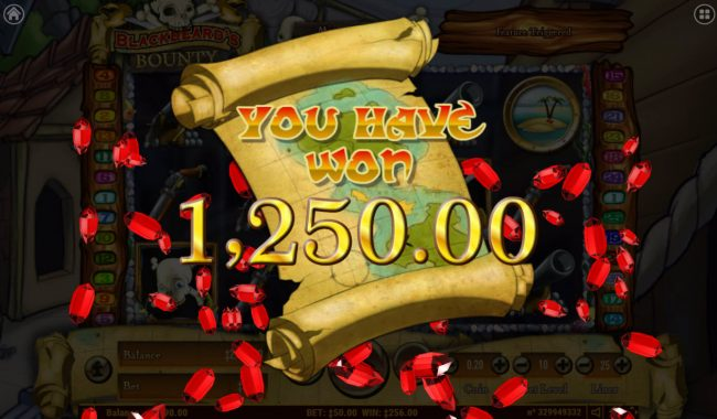 7 Gods Casino featuring the Video Slots Blackbeard's Bounty with a maximum payout of $2,000,000