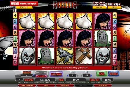 Rizk featuring the video-Slots Blade with a maximum payout of 8,000x