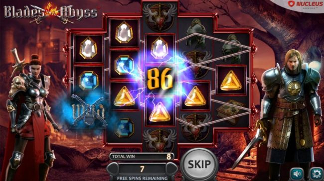MyBcasino featuring the Video Slots Blades of the Abyss with a maximum payout of $138,500