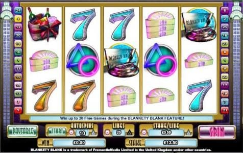 Play slots at Northern Lights: Northern Lights featuring the Video Slots Blankety Blank with a maximum payout of $100,000