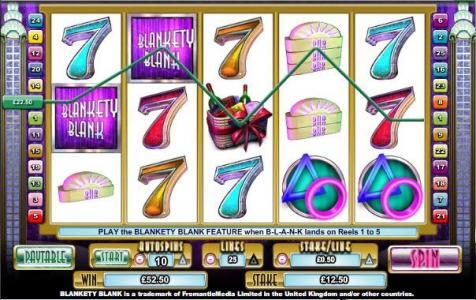 Play slots at Betchan: Betchan featuring the Video Slots Blankety Blank with a maximum payout of $100,000