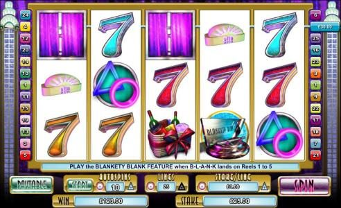 Multiple winning paylines triggers a $123 jackpot