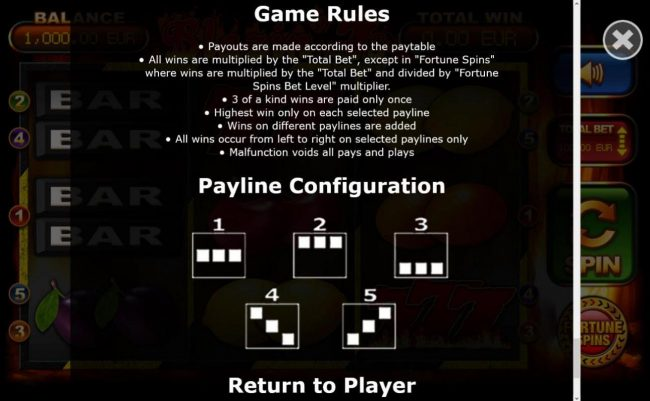 General Game Rules - The theoretical average return to player (RTP) is 93.99%.