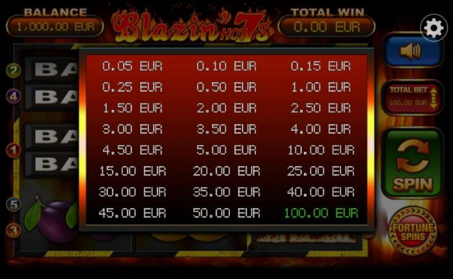 Company featuring the Video Slots Blazin' Hot 7s with a maximum payout of $10,000