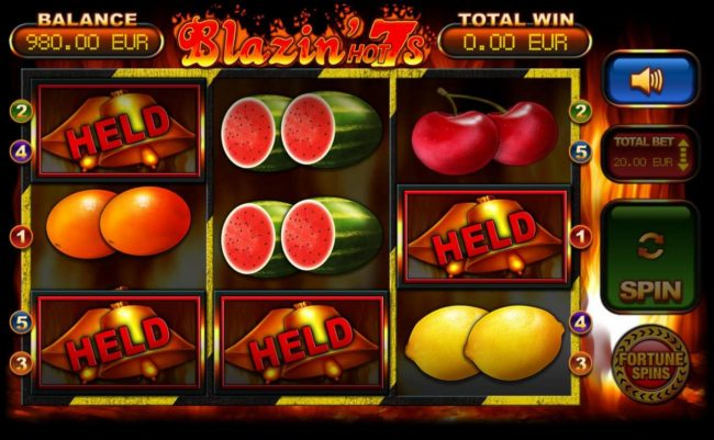 During the Spin Streak bonus, matching symbols are held while the reels are respin.