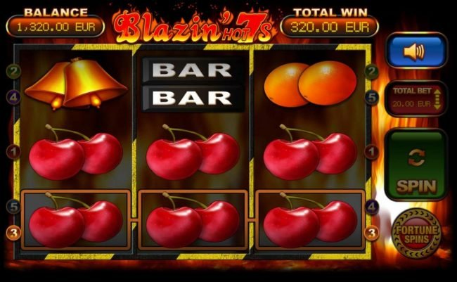 Cherry Win Streak Bonus triggers a pair of winning paylines leading to a 320.00 payout.