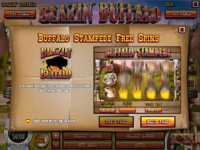 Play slots at Rich Casino: Rich Casino featuring the Video Slots Blazin' Buffalo with a maximum payout of $7,500