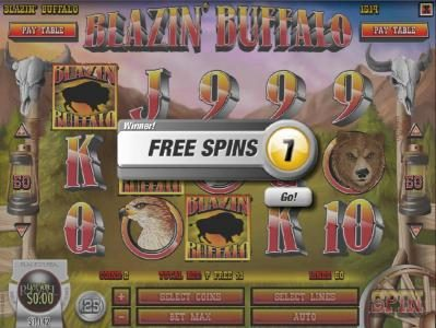 Play slots at Slots Jackpot: Slots Jackpot featuring the Video Slots Blazin' Buffalo with a maximum payout of $7,500