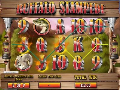 Royal Planet featuring the Video Slots Blazin' Buffalo with a maximum payout of $7,500