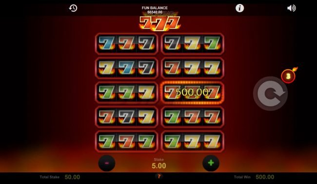 Dream Vegas featuring the Video Slots Blazing Sevens with a maximum payout of $21,000
