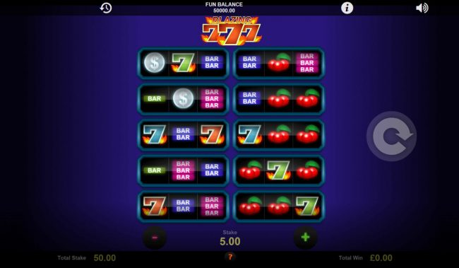 Play slots at Enzo Casino: Enzo Casino featuring the Video Slots Blazing Sevens with a maximum payout of $21,000